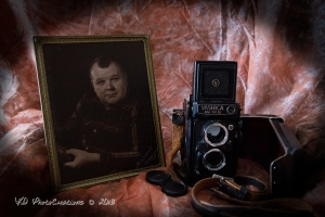 My father Azle Marteney and my camera